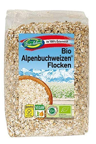 Flocons de sarrasin bio sans gluten 2kg biologiques complets crus sans OGM sarrasin d'Autriche 6x330g