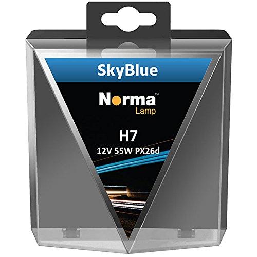 Norma 216607–302 halogène H7 Lampe de phare Twin Box SKY BLUE 12 V 55 W PX26d