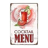 ivAZW Signe Étain Affiche Murale Métal Sweety Foods Boissons Menu Pub Bar Club Art Décoration Murale Vintage Plaque Peinture 20X30 Cm 12