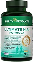 Ultimate H.A. Formula - Clinically Studied BioCell Collagen - Dynamic Hyaluronic Acid Support for The Joints and Skin - 90 Count - from Purity Products
