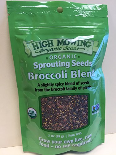 HIGH MOWING ORG SEEDS Organic Broccoli Blend Sprouts, 3 OZ