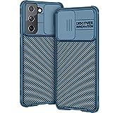 AROYI Hülle Kompatibel mit Samsung Galaxy S21 5G (6,2 Zoll), Kameraschutz mit Slide Camera Cover - Blau