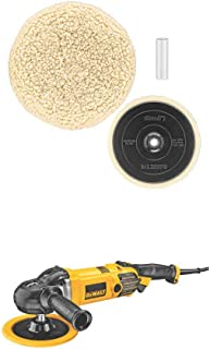 DEWALT DWP849X 7-Inch/9-Inch Variable Speed Polisher with Soft Start w/ DW4985CL Wool Buffing Pad and Backing Pad Kit, 7-Inch