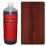 Tinte para madera a base de agua de Littlefair?s, respetuoso con el medio ambiente, Caoba muy roja, 250 ml