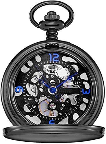 HCFSUK Reloj de Bolsillo con Estilo clásico.Reloj de Bolsillo para Hombre, Concha Vintage con máquina de Cuerda Manual de Cadena, como Regalo para el día del Padre/día de San Valentín/Enviar l