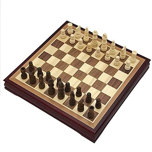 NC Juego de ajedrez, Juego de ajedrez de Palisandro, Tablero de ajedrez de Madera Maciza, ajedrez Internacional, Mesa de Centro clásica, Juego de Mesa de Madera, Regalo para niños QZQQ