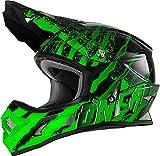 O'NEAL 3 Series Mercury Fidlock Motocross Enduro MTB Helm schwarz/grün 2018 Oneal: Größe: XL (61-62cm)