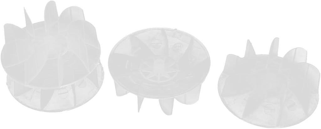 sourcing map Aspas del ventilador del motor secador de pelo accesorios de 57mm x 21mm de plástico 4pcs