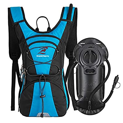 SHARKMOUTH FLYHIKER Hiking Hydration Backpack Pack with 2.5L BPA Free Water Bladder, Lightweight and Comfortable for Short Day Hikes, Day Trips and Trails, Blue