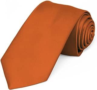 Burnt Orange Premium Slim Necktie, 2.5