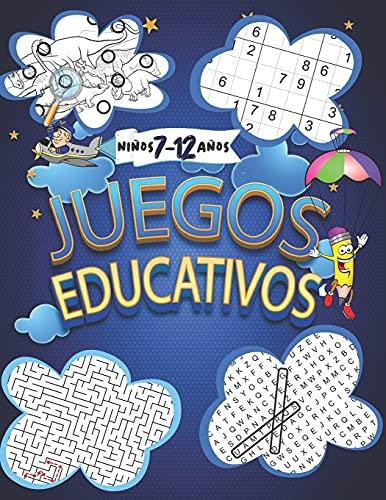 Juegos Educativos: 160 Rompecabezas y pasatiempos para niños 7-12 años: Encuentra las diferencias, Sopa de letras, Desafío laberintos y sudoku.