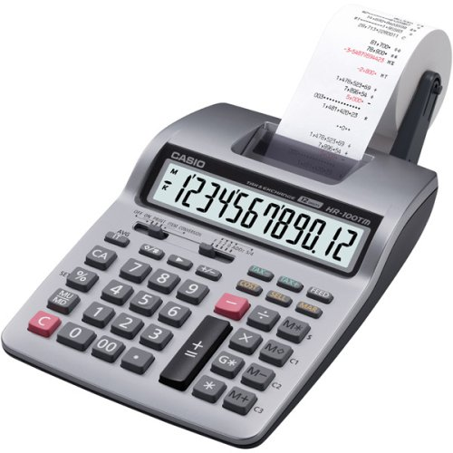 Casio Inc. HR-100TM mini desktop printing Calculator,Multicolor