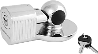 Master Lock 377KA Trailer Hitch Lock, Fits 1-7/8 in, 2 in, and Most 2-5/16 in. Trailer Couplers, Chrome