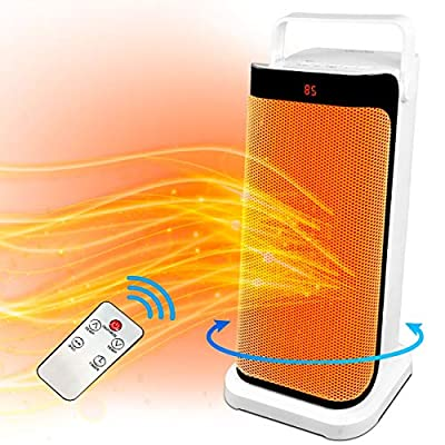 Space Tower Heaters Electric - Oscillating Portable Large Fan Heater, Remote Ceramic Heater Adjustable Thermostat Timer, Tip-over Protection, Patio,outdoor Office, Bedroom, Bathroom, Home, Indoor