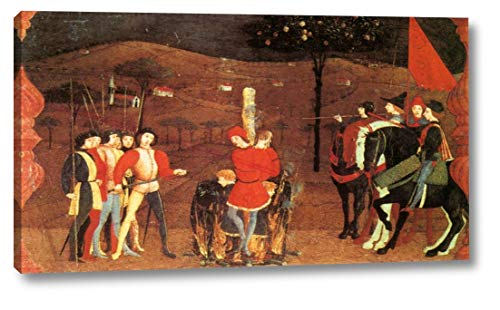 "Miracle of The Desecrated Host Scene 5 by Paolo Uccello - 13"" x 24"" Gallery Wrap Canvas Art Print - Ready to Hang"