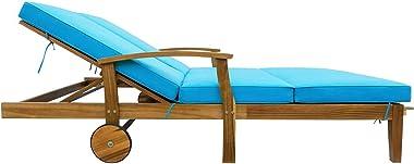 Xkun Outdoor Lounge Chair Lounge Chair Nap Lounge Garden Lounge Chair Outdoor Pool Lounge Beach Chair
