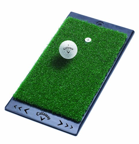 "Callaway FT Launch Zone Hitting Mat w/Rubber Backing, 8"" x 16"", Green"