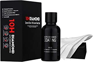 ORO 10H Ceramic Coating Car Detailing, Automotive Polish Finish High Gloss Anti Scratch Car Kit, Easier and Better Than Car Wax Super Hydrophobic Paint Protection (30ML)
