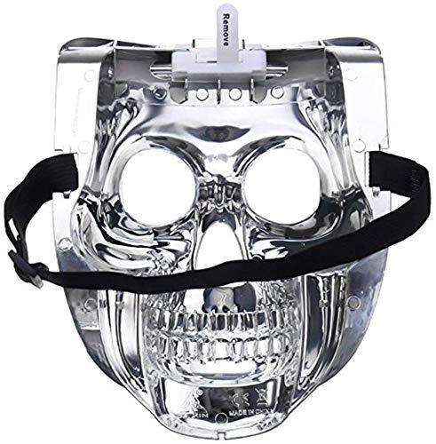Kinhevao Máscara de Halloween Equipo Led, Horror Máscara de Purga Máscara Máscara Máscara cráneo del Zombi de Miedo con Luces de Colores for Halloween, Fiesta increíble Styling