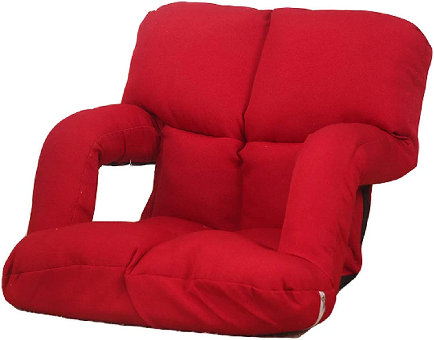Sofas & Couches Creative Personality Lazy Couch Single Armrest Computer Chair Casual Breastfeeding Recliner Padded Folding Floor Seat Sofas & Couches (color   Red)