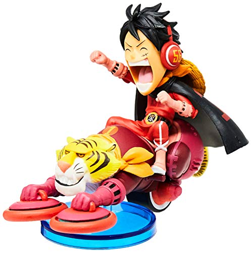 Action Figure One Piece, Bandai Banpresto, Wcf Mugiwara 56 Luffy, Multicor