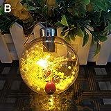 CAheadY LED runde Kugel Weihnachtsbaum hängen Dekor B