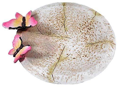 N / A Bebedero para pájaros con diseño de mariposa, 20 x 20 cm, fuente decorativa E135