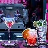 MOSUO Untersetzer Gläser (12er Set), Getränkeuntersetzer mit Box Filzuntersetzer Rund Dekorative Glasuntersetzer Filz in Dunkelgrau für Tassen, Tisch, Bar, Glas, Gläser - 3