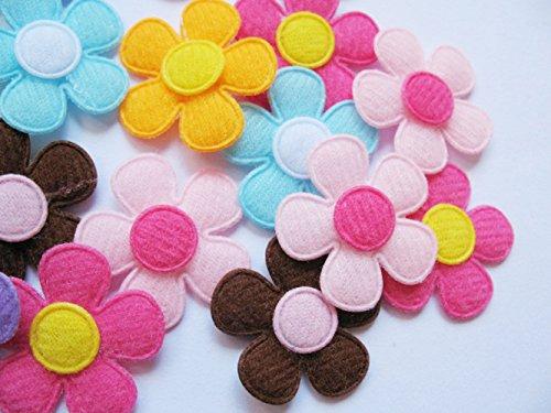 YYCRAFT, confezione da 90 pezzi, applique imbottite a forma di fiori, in feltro, in 9colori