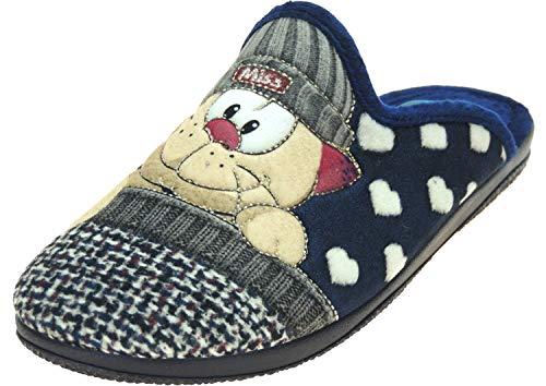 Zapatillas Casa Mujer Invierno Divertidas - Chinela Destalonada Semidescalza - Fabricadas en España - Marca [Sevillas & Alberola] Gato Talla 41