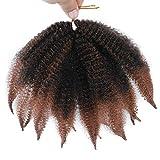8 Inch Short Afro Kinky Twist Marley Braiding Hair 3 Packs/Lot Crochet...