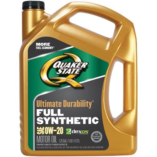 Quaker State Ultimate Durability Full Synthetic 0W-20 Motor Oil (5-Quart, Single Pack)