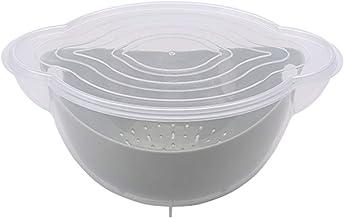 YUMEIGE Cosmetische borstel opbergdoos Dubbellaags plastic schoonmaak mand, afvoermand, wassen en fruit en groente, huisho...