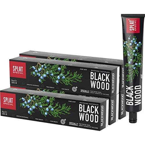 5x SPLAT Blackwood Whitening kolen tandpasta - AANBIEDING