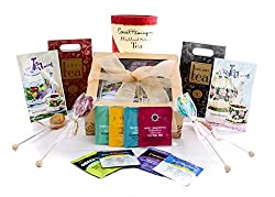 Gourmet Tea Lovers Gift Gold Box