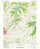 YellowMaps Lake Jacomo MO topo map, 1:24000 Scale, 7.5 X 7.5 Minute, Historical, 1963, Updated 1964, 26.9 x 22 in - Polypropylene