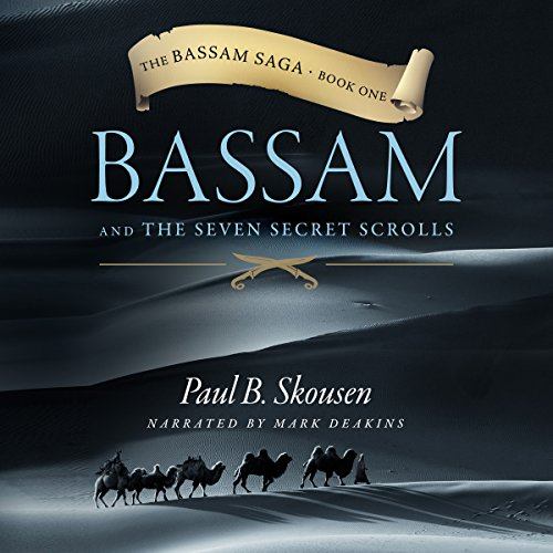 Bassam and the Seven Secret Scrolls audiobook cover art