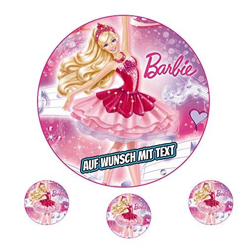 Tortenaufleger Fototorte Oblate Tortenbild Geburtstag eßbar Motiv: Barbie (Oblatenpapier)