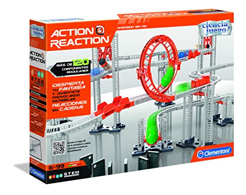 Clementoni - Ciencia y Juego Action & Reaction Crazy Dominó (55321)