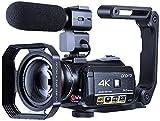 Cámara de vídeo 4K ORDRO WiFi Ultra HD Vlog Cámara para YouTube, Grabadora de...