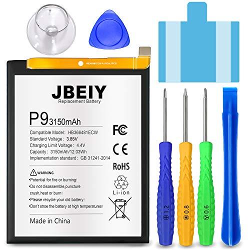 JBEIY Batteria per Huawei P9/ Honor 8, Nuova 3150mAh Alta Capacità Batterie di Ricambio, lavoro per P9 Lite P10 Lite V9 play Nove 3E, Con strumenti di riparazione professionali-1 anno garanzia