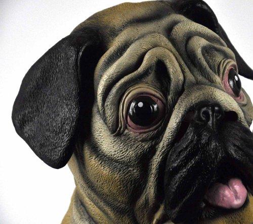 Pug Dog Head - lifesize head mask