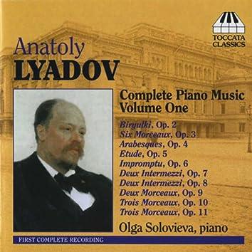 Liadov: Complete Piano Music, Vol. 1