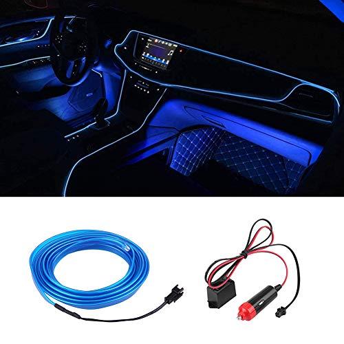 Tira de Luces 3metro para coche Qiilu Cadena de luces LED 12V Iluminación interior para coche con controlador de potencia