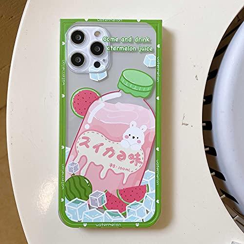 ShSnnwrl Cabina telefonica Étui pour Téléphone Simpatico Cartone Animato Coniglio Yogurt Cassa del Telefono per12 11 PRO Max 7 8 Plus XR XS Xsmax 12 Mini C