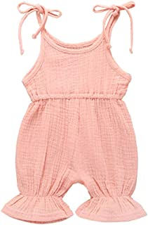Hopeful Infant Toddler Baby Girl Clothes Cotton Ruffle Romper Jumpsuit Halter Bodysuit Playsuit Summer Outfit