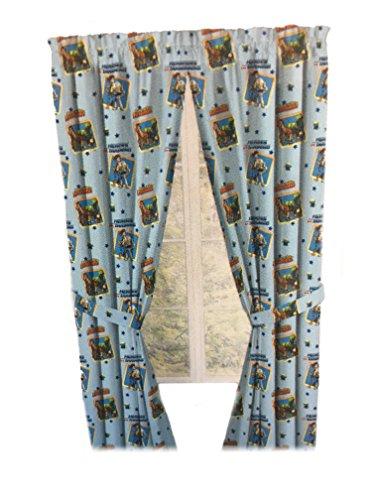 Jouet étage Drapes enfants Window Panel Rideaux avec embrasses 106,7 x 213,4 cm [Bleu ciel]