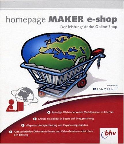 Preisvergleich Produktbild Homepage Maker E-Shop