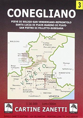 Conegliano, S. Lucia di Piave, S. Polo di Piave, Codognè 1:30.000