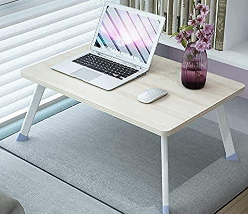 SHKUU Computer Workstations, Folding Garden Dining table Computer Desk Laptop Desk Foldable Bed Table Tray Coffee TV Desk 100% Bamboo Breakfast Serving Tray Gaming Writing